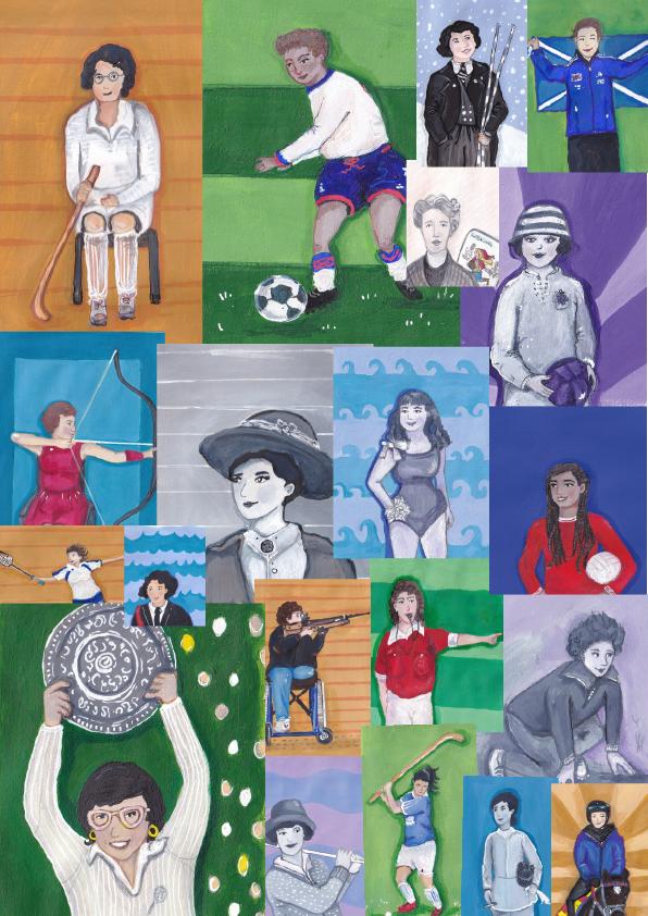Female-sporting-Heroes---illustrations